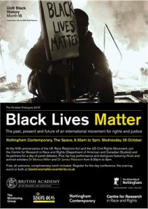 Poster for Black Lives Matter Conference in Nottingham, England (October 2015)