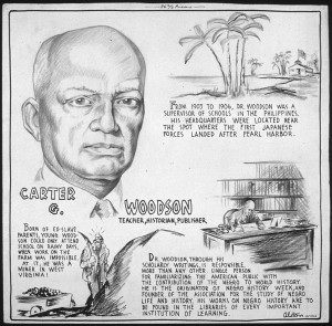 """Carter G. Woodson: Teacher, Historian, Publisher"" (Artist: Charles Alston, 1943)"