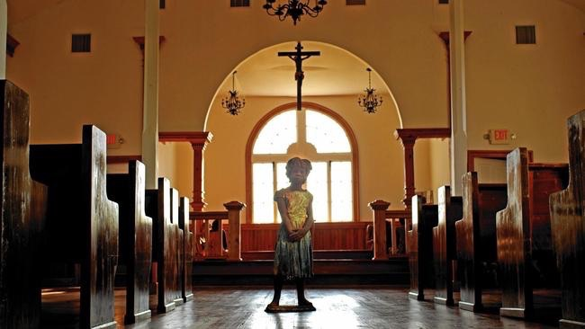 "via LA Times: ""A statue of a child slave is among the displays at Whitney Plantation in Wallace, La."" (Jim Cummings)"