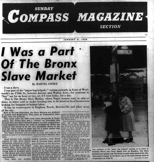 Bronx Slave Market - Marvel Cooke