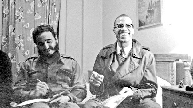 Fidel Castro and Malcolm X in Harlem, New York (September 1960)