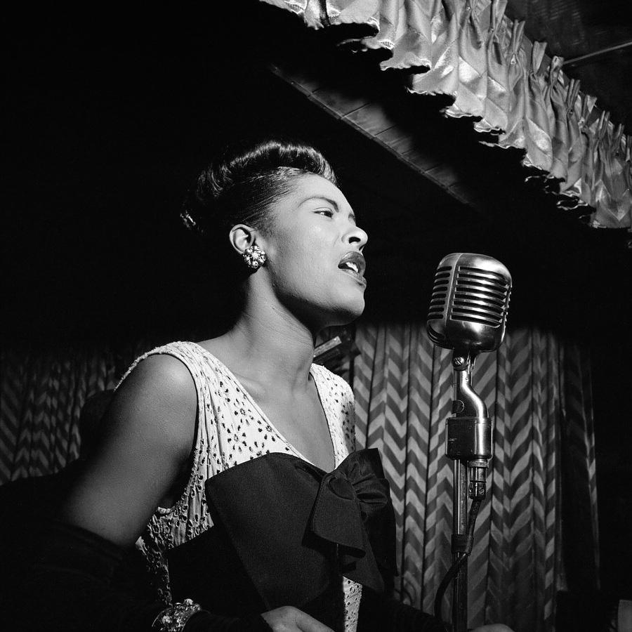 Billie Holiday, Downbeat club, New York, c. February 1947.