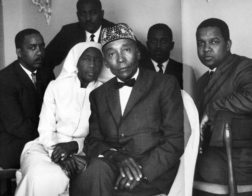 Nation of Islam leader Elijah Muhammad with wife First Lady Clara Muhammad