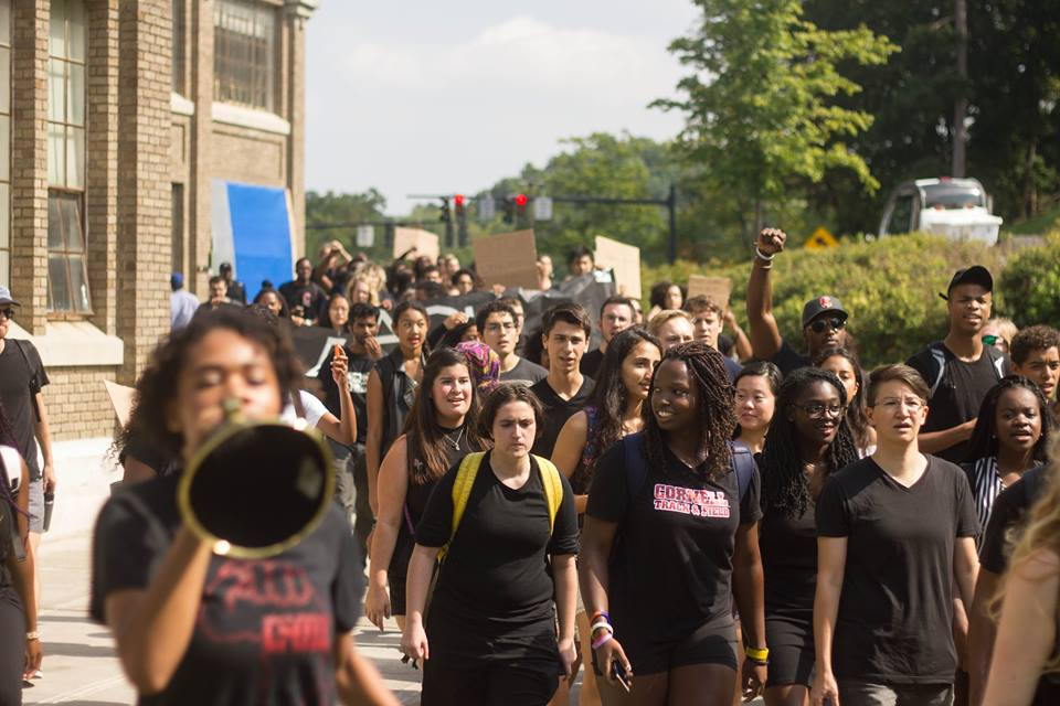 Participants Marching for Black Lives at Cornell University, September 23, 2016 (Credit: Julia Cole Photography)