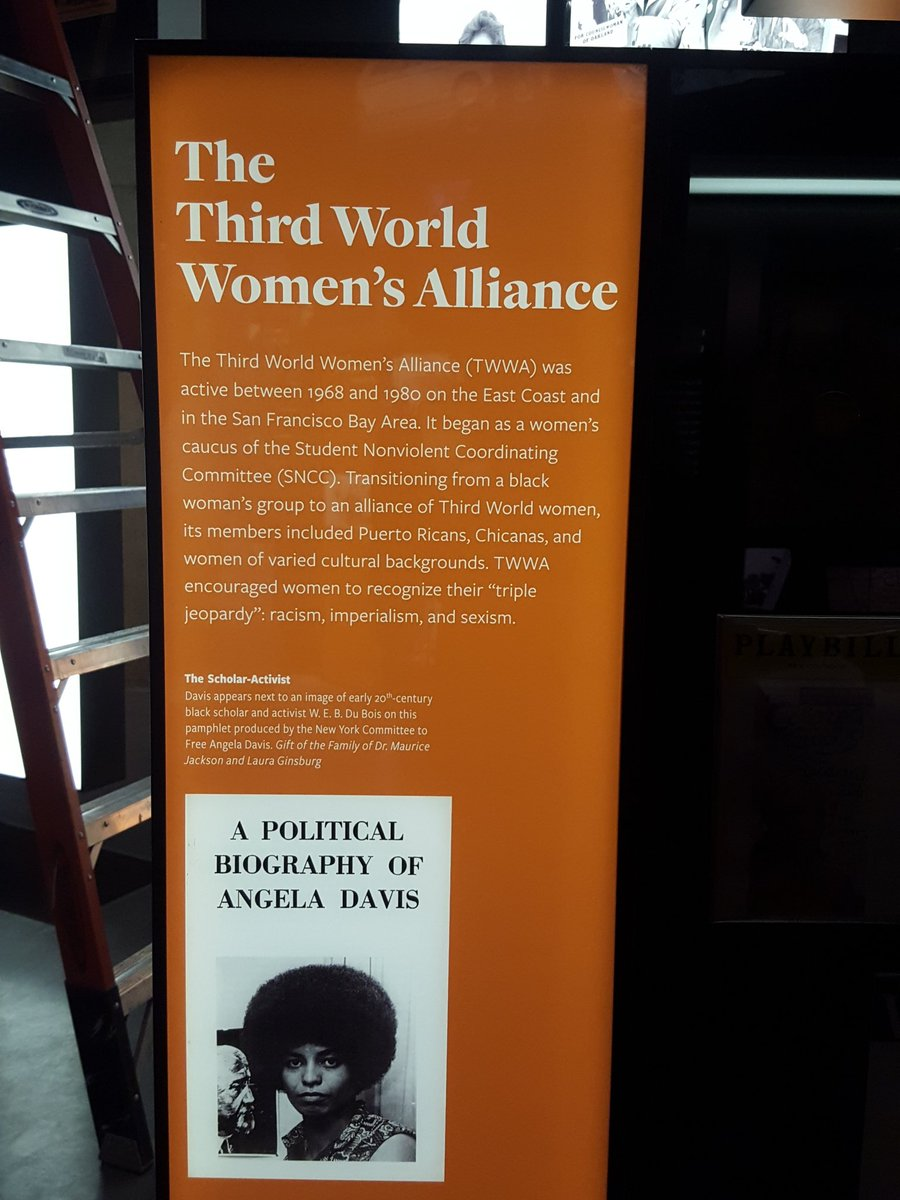 Display on the Third World Women's Alliance at the NMAAHC (Credit: Jessica Marie Johnson, africandiasporaphd.com, twitter.com/afrxdiasporaphd)