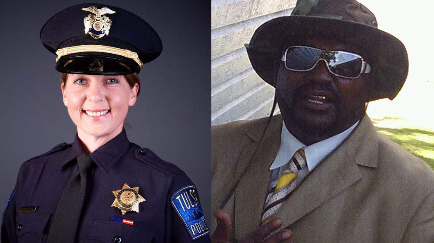 Terence Crutcher, right, was fatally shot by Officer Betty Shelby, left.