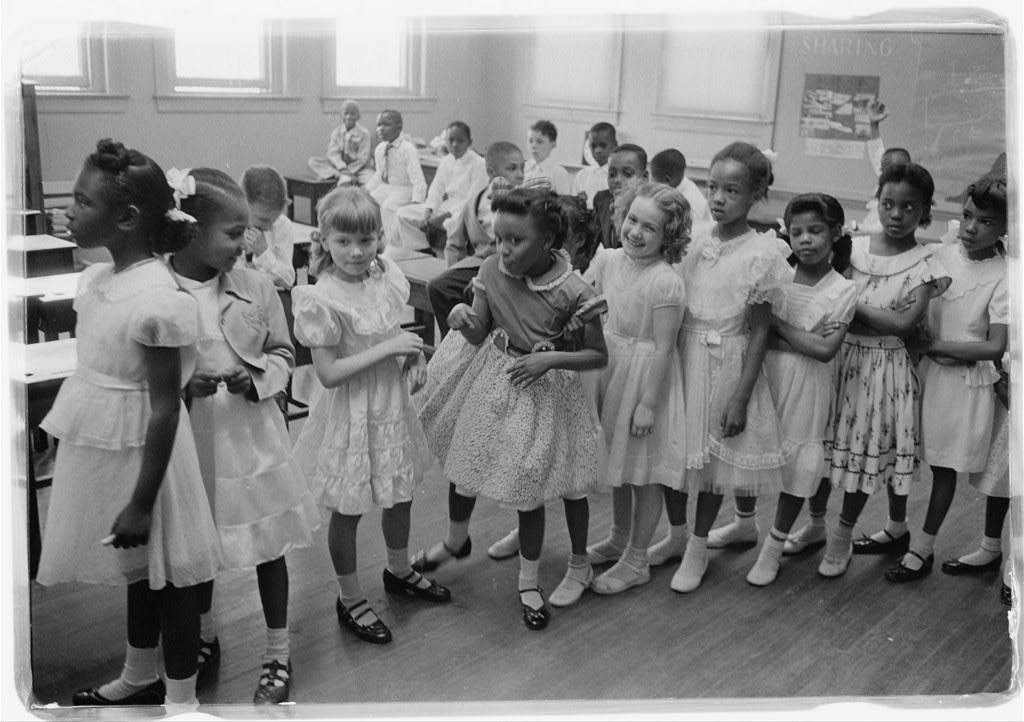 Integration at the Barnard School, Washington, D.C., 1955. Source: Library of Congress.