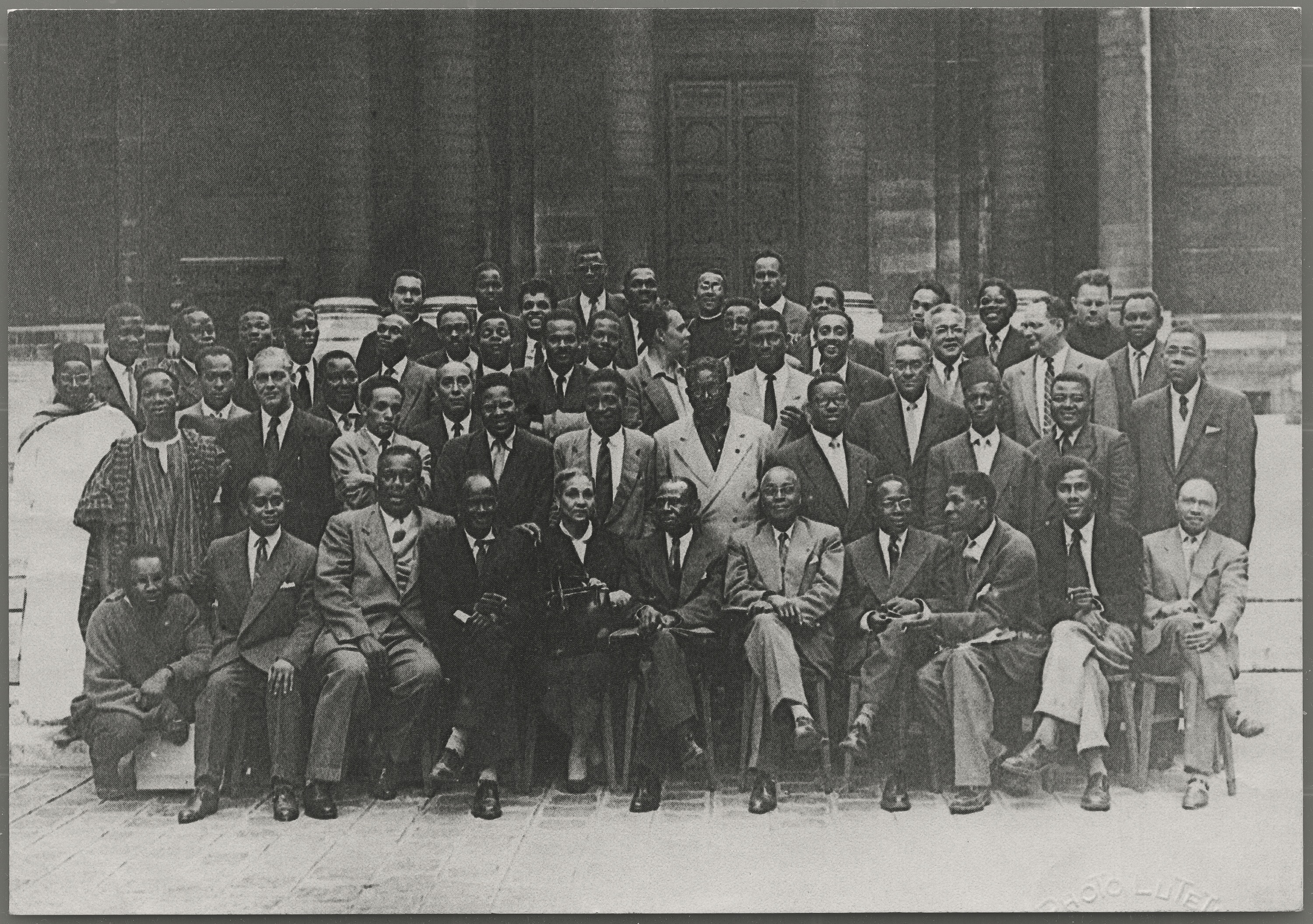 Attendees of the 1956 Congress of Black Writers and Artists