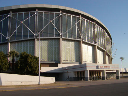 Arizona Veterans Memorial Coliseum, the home to the Phoenix Suns in 1987