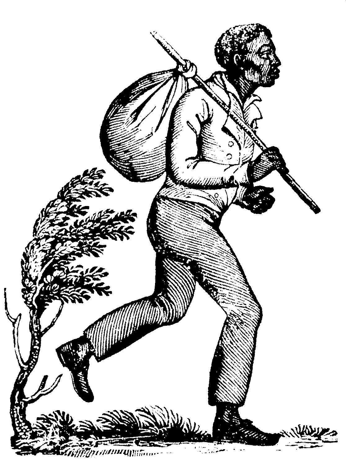 19th-century depiction of a runaway slave.