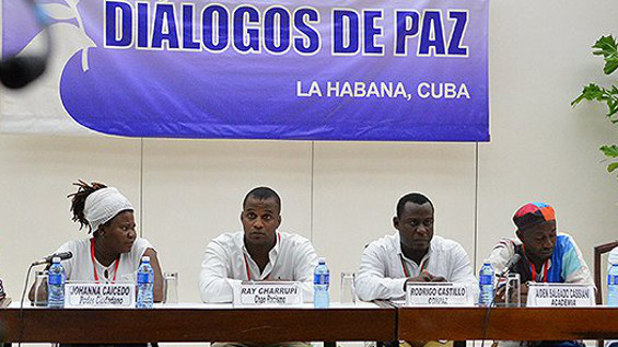 Afro-Colombian leaders meet in Havana to discuss the peace agreement. Photo courtesy of Noticias RCN.