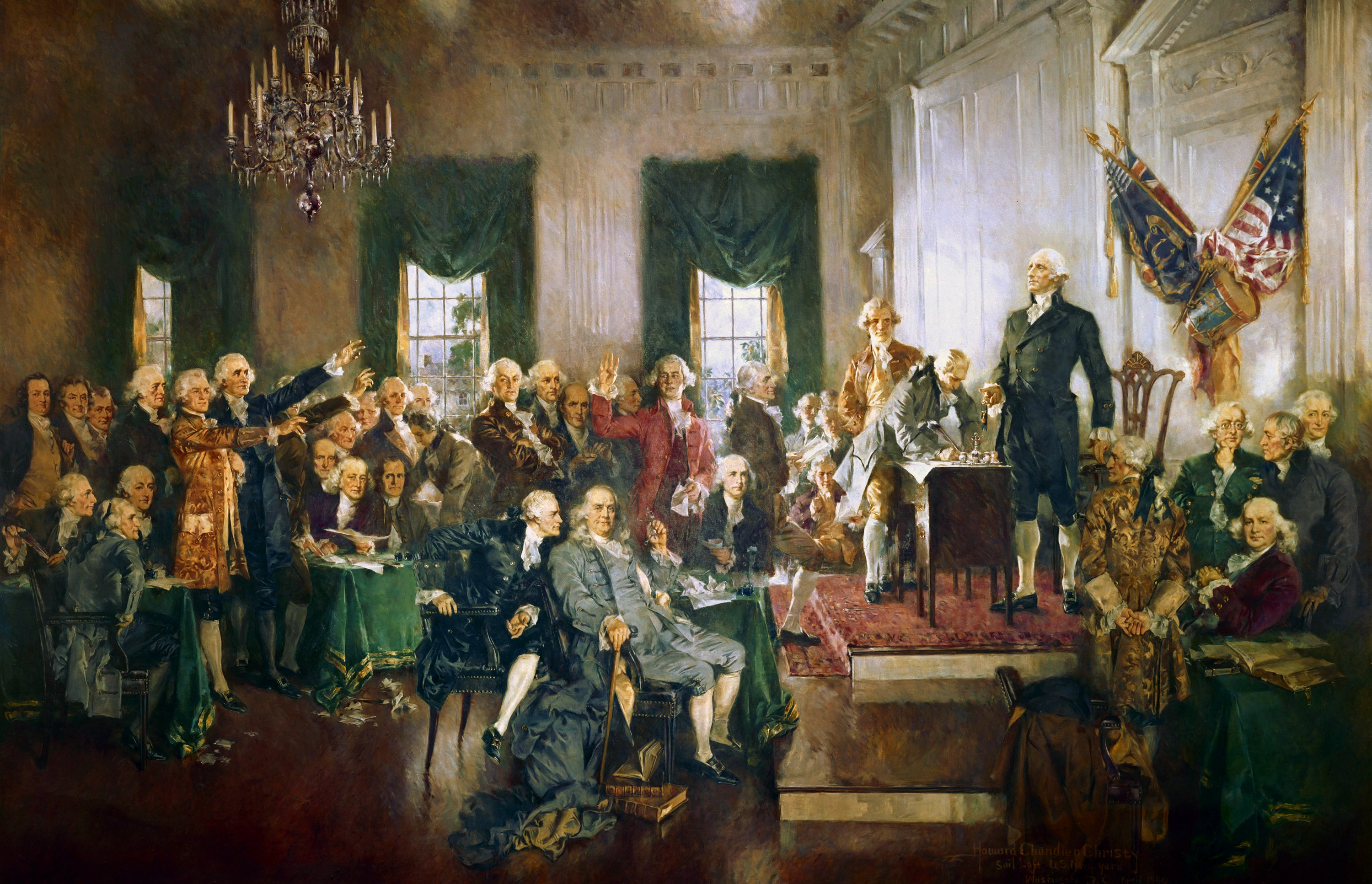 The Constitutional Convention, 1787. Source: history.com.