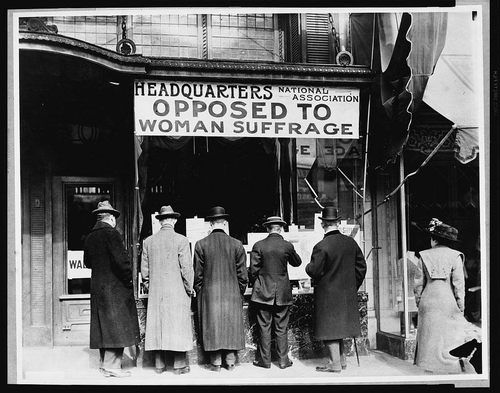 National Anti-Suffrage Association Headquarters. Source: Library of Congress.