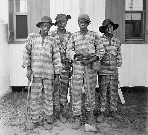 A Southern chain gang. (Library of Congress Prints and Photographs Division)