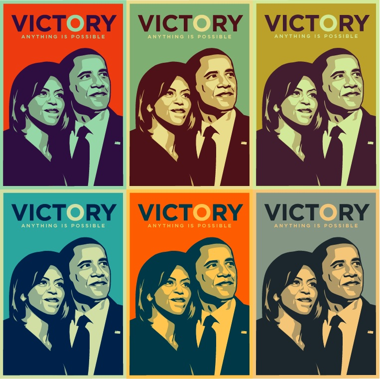 Obama Victory Print to commemorate his historic win (Photo Credit: Flickr/Hyperakt)