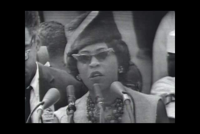 Daisy Bates at the 1963 March on Washington. Source: KFPA.org.