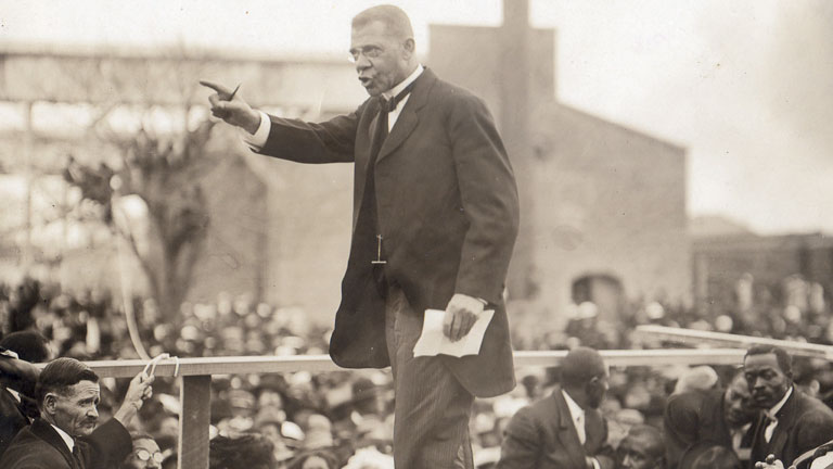 a literary analysis of up from slavery by booker t washington Still, by 1900, washington was seen as the leader of the african american  community in 1901, he published his autobiography, up from slavery he was a .
