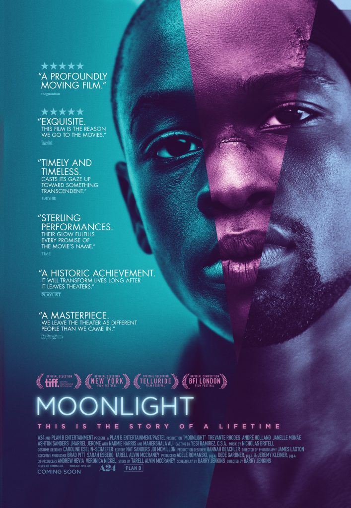 Moonlight poster. Photo: A24.