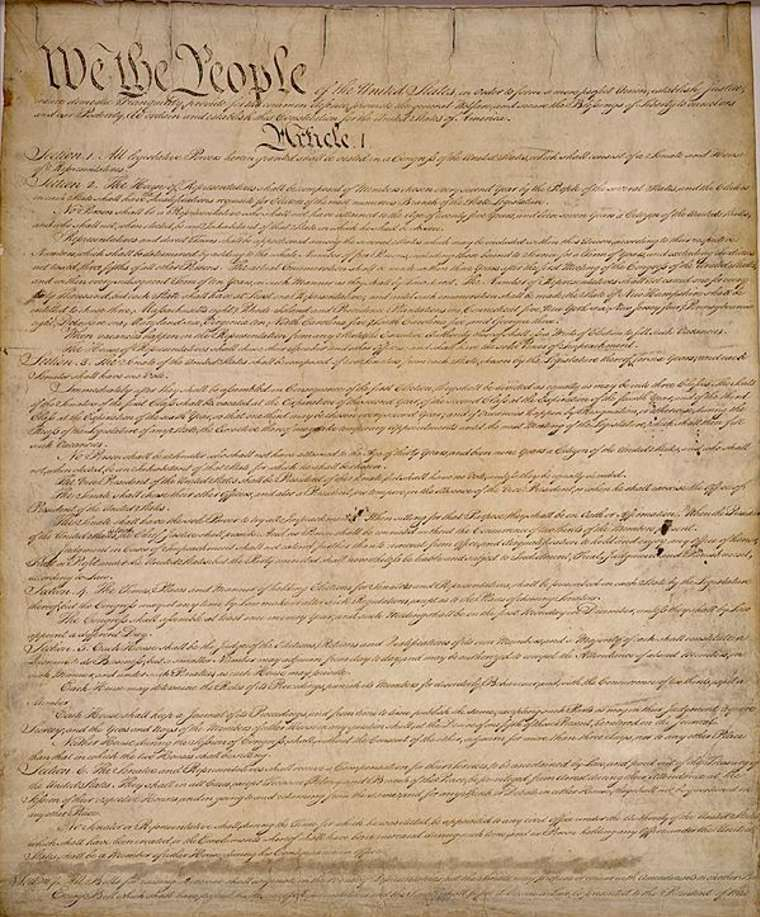 US Constitution. Photo: Archives.gov.