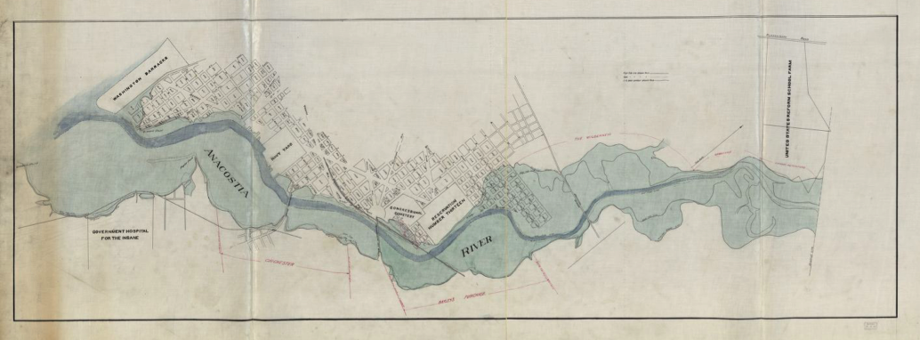 Hugh T. Taggart, Map of landholdings along the Anacostia River in Washington, D.C. [ca. 1900]. Photo: Library of Congress.