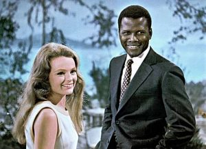 "Katharine Houghton and Sidney Poitier in ""Guess Who's Coming to Dinner."" Photo: Columbia Pictures."
