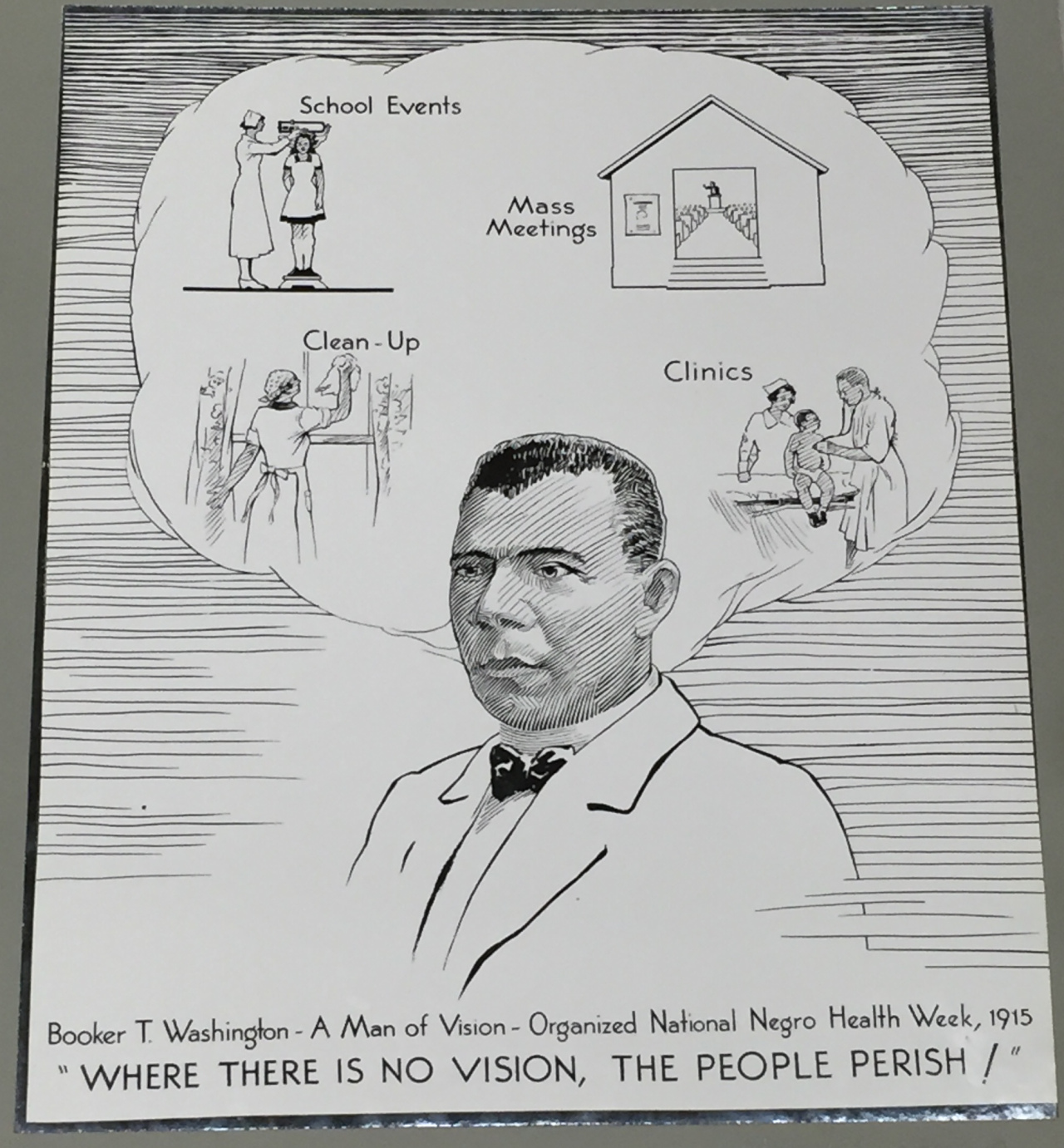 Pamphlet from Negro Health Week. Photo: National Archives.