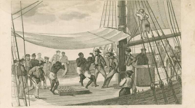 """""""Chained To The Hatch,"""" 1864. Photo: NYPL Digital Collections."""