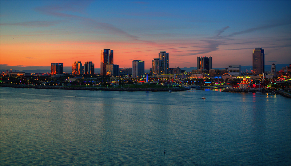 Downtown Long Beach, California, where gentrification is most acute in the city.