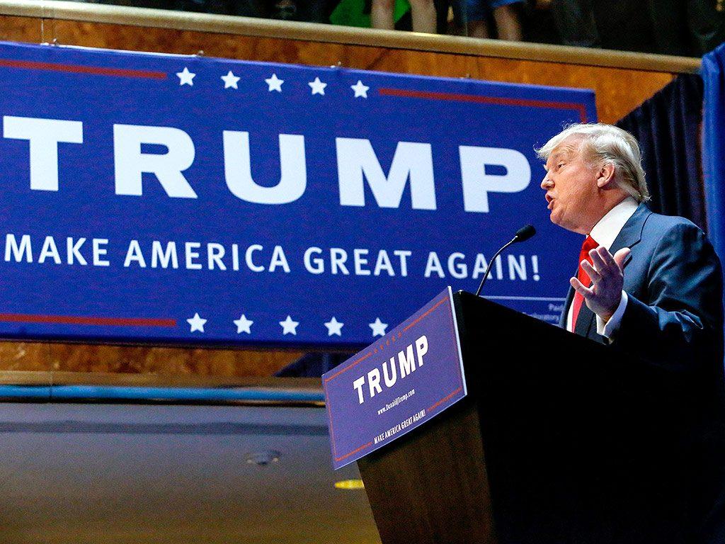 Donald Trump campaign rally. Photo: NPR.