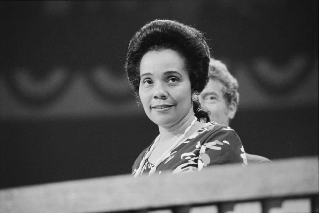 Coretta Scott King at the Democratic National Convention, New York City. Photo: Library of Congress.