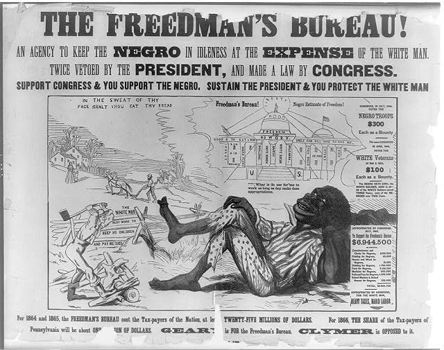 One in a series of racist posters attacking Radical Republicans on the issue of black suffrage, issued during the Pennsylvania gubernatorial election of 1866. Photo: Library of Congress.