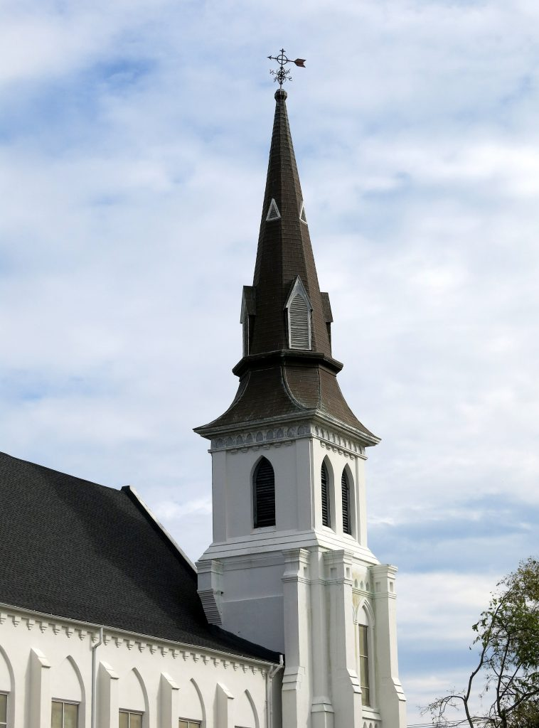 The steeple of Emanuel African Methodist Church, Charleston, SC. Photo: Spencer Means/Flickr.