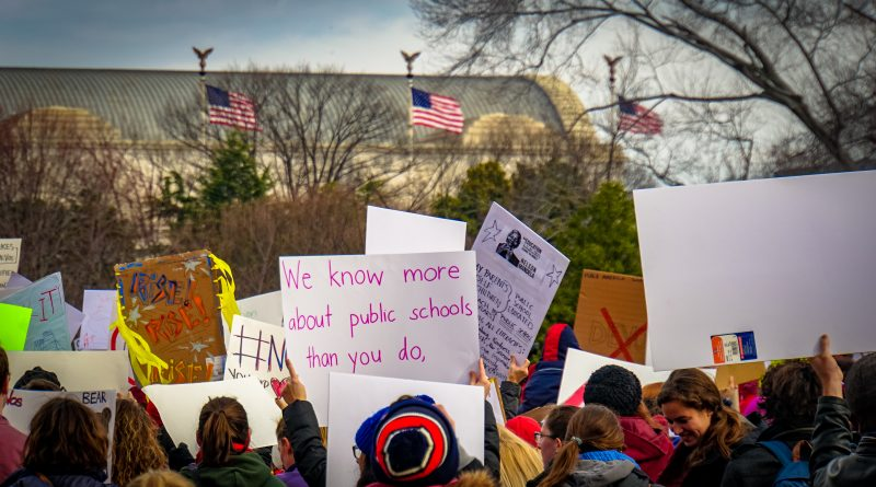 Protest of the appointment of Betsy DeVos, January 2017. Photo: Ted Eytan/Flickr.