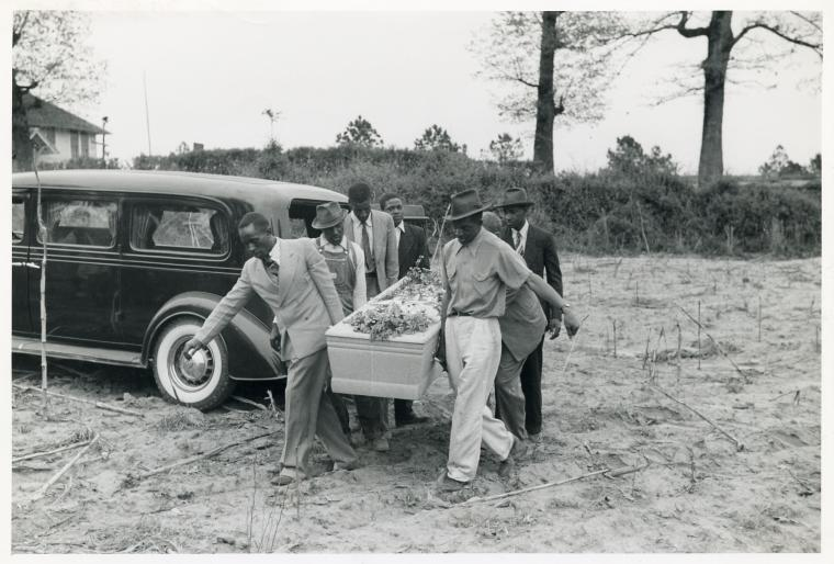 "Schomburg Center for Research in Black Culture, Photographs and Prints Division, The New York Public Library. ""Funeral of nineteen year old Negro saw mill worker in Heard County, Georgia, May 1941."" New York Public Library Digital Collections."