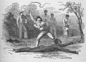 """Flogging a slave fastened to the ground."" 1853. Schomburg Center for Research in Black Culture, Manuscripts, Archives and Rare Books Division, The New York Public Library Digital Collections."
