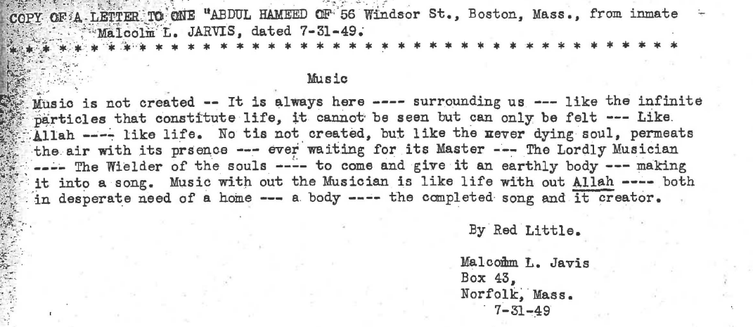 Image 1 - Malcolm Jarvis to Abdul Hameed (July 31, 1949)