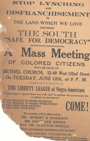 Liberty League Mass Meeting Flyer