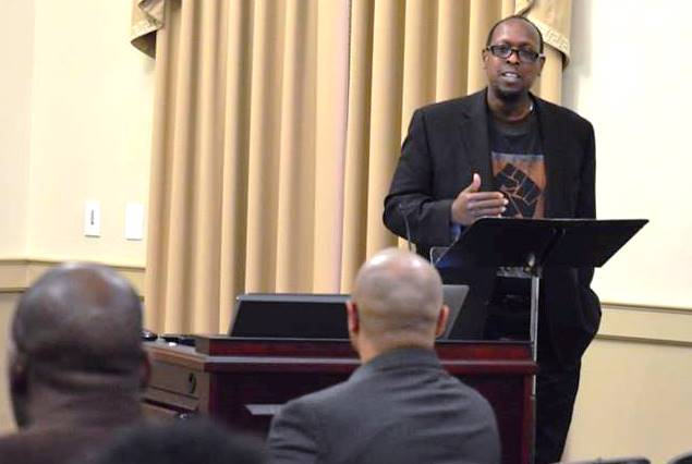 """Mark Anthony Neal delivers the keynote, """"Love in the Stax: Black Nationalism and Rebuilding the Archive in Post Apocalyptic Memphis"""""""