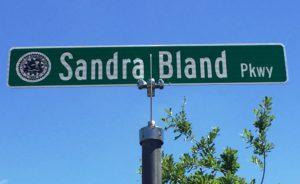 Sandra Bland Pkwy Sign