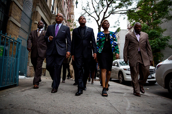 Clergy leaders march during a prayer vigil for the Charleston victims (Photo by Eric Thayer/Getty Images)