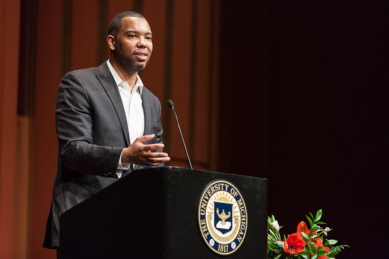 Ta-Nehisi Coates at the Gerald R. Ford School of Public Policy (2015). Photograph by Sean Carter / Flickr