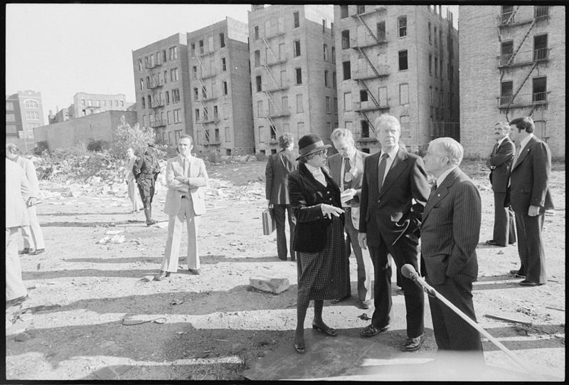President Jimmy Carter touring the South Bronx, 1977
