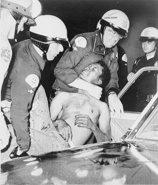 One of nearly 4,000 arrests during the Watts uprising, 1965