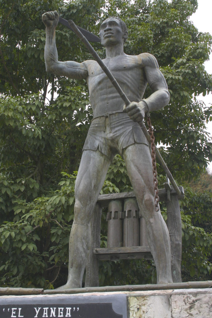 Statue of Afro-Mexican leader Yanga