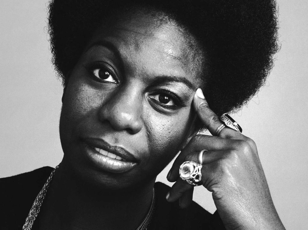 Portrait of the singer Nina Simone, October 1969. Photo: Jack Robinson/Hulton Archive/Getty Images