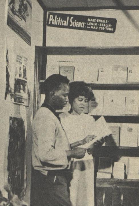 Una Mulzac with Liberation Bookstore customer in 1967. Credit: Challenge
