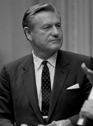 Nelson Rockefeller, 1968. Photo: Yoichi R. Okamoto, White House Press Office.