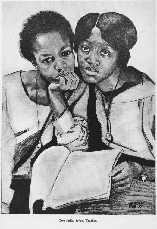 "Schomburg Center for Research in Black Culture, Manuscripts, Archives and Rare Books Division, The New York Public Library. ""Four portraits of Negro women : Two public school teachers"" The New York Public Library Digital Collections. 1925-03. http://digitalcollections.nypl.org/items/510d47df-8dd5-a3d9-e040-e00a18064a99"