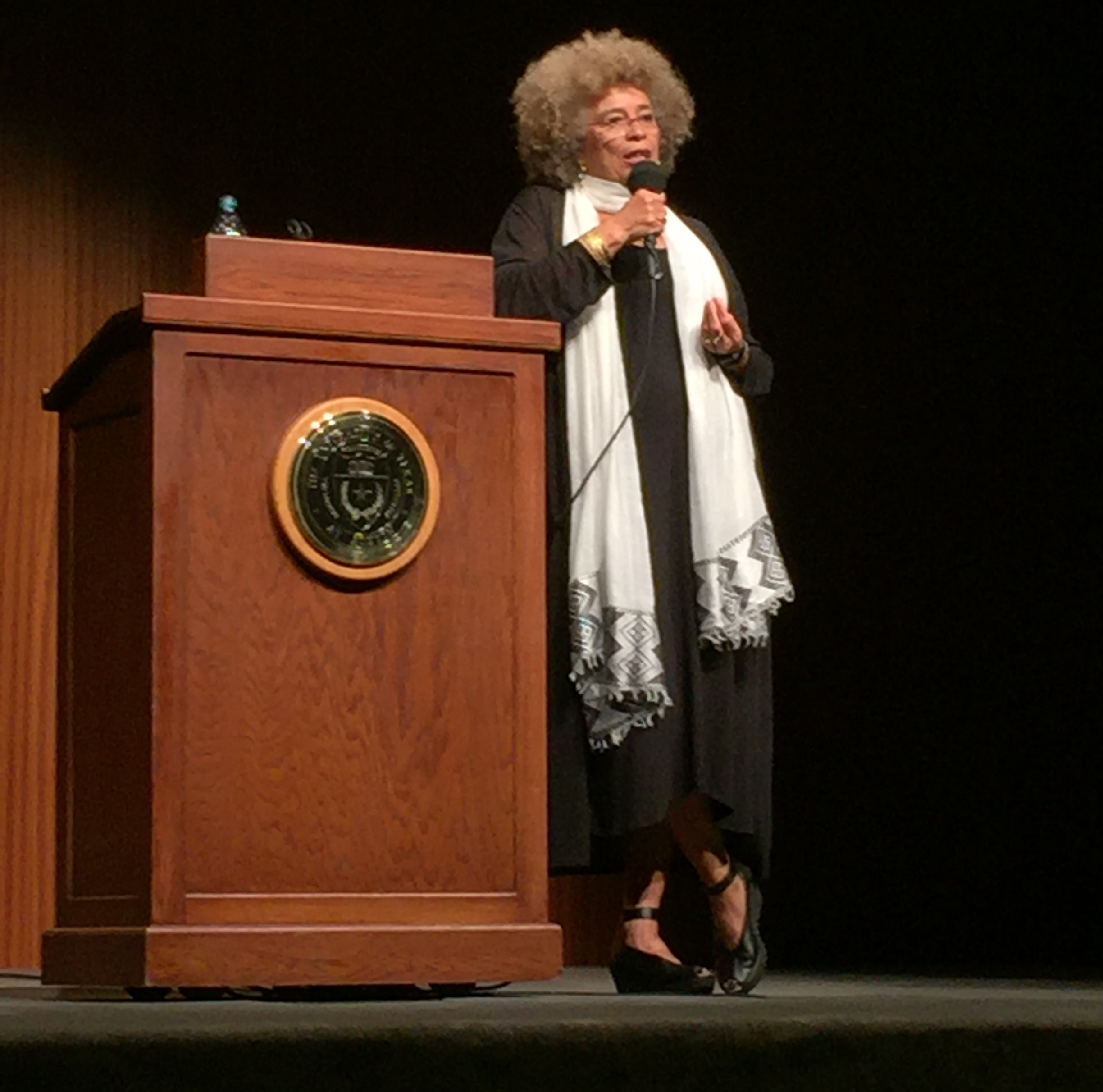 Angela Davis at Black Matters: The Futures of Black Scholarship and Activism, September 30, 2016 (Credit Minkah Makalani)
