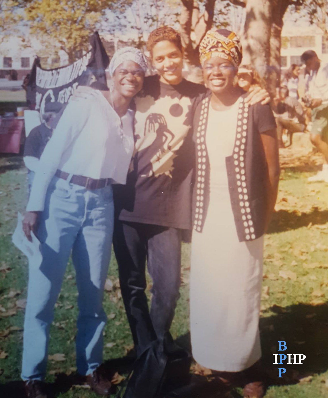 Angela, Tracye and Robyn at the 30th Panther reunion in Oakland 1996